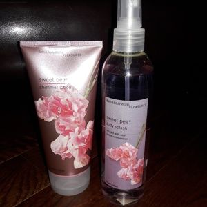 Sweet Pea Body Splash and Shimmer Lotion